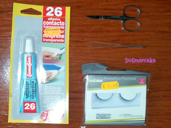 Materiales pestañas bjd