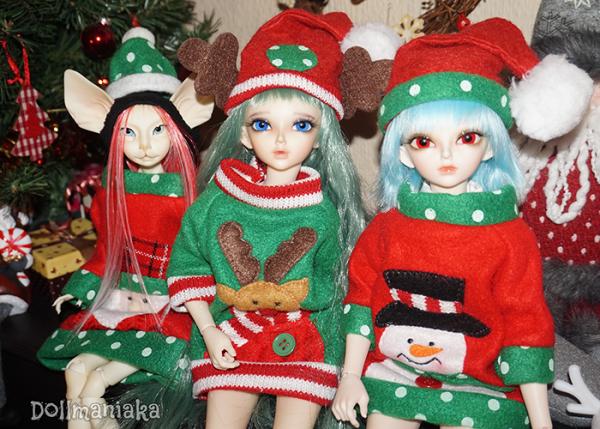 xmas christmas dolls