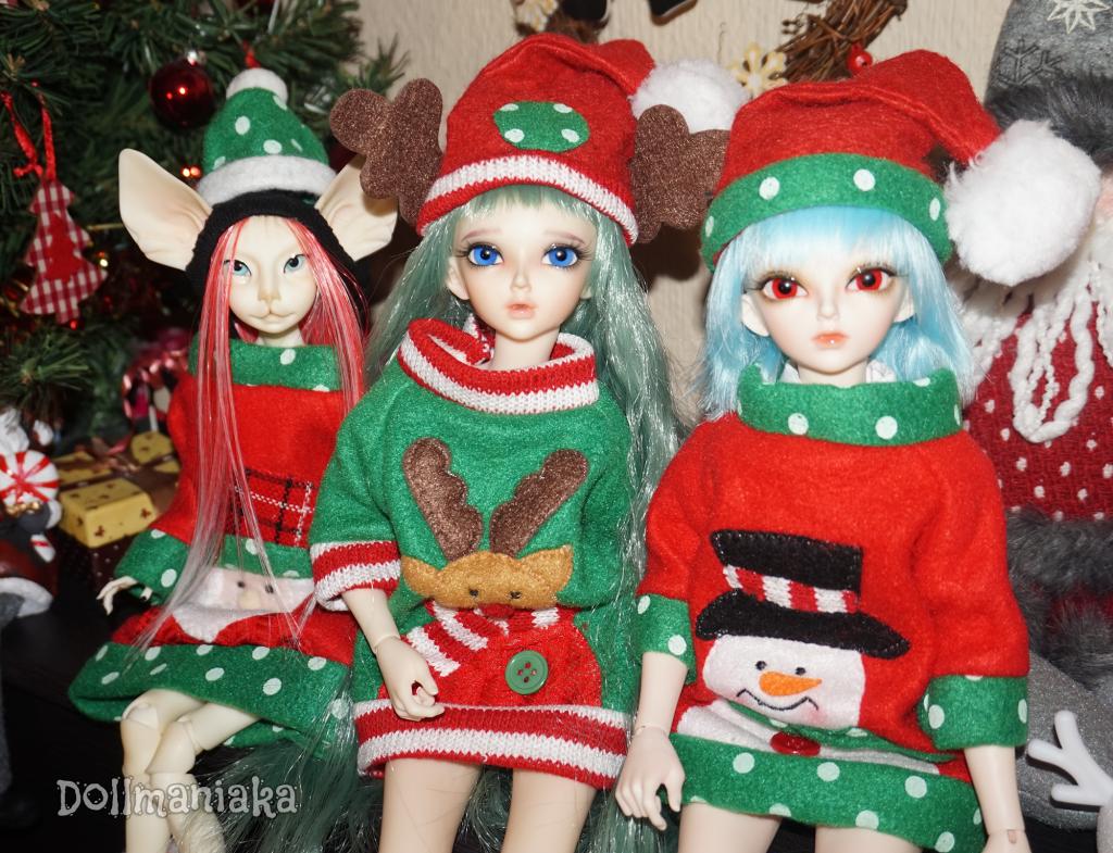 Feliz Navidad Xmas Dollmaniaka
