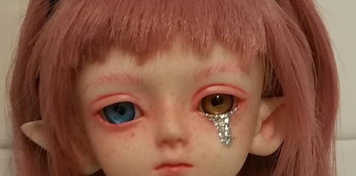 glitter tear bjd lagrima purpurina hodoo