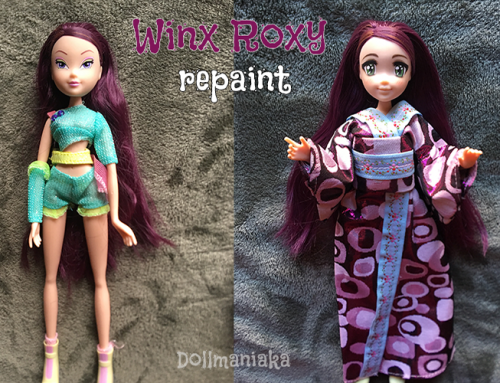 Winx Club Roxy believix fairy doll repaint custom